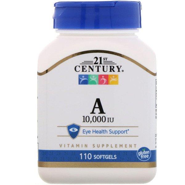21st Century, Вітамін A, 10,000 МО, 110 гелевих капсул